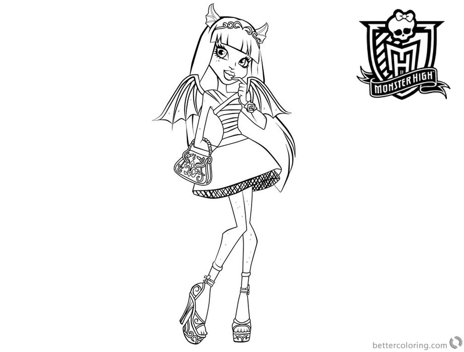 Monster High Coloring Pages Rochelle Goyle Free