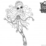 Monster High Coloring Pages Spectra Haunted