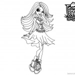 Monster High Coloring Pages Spectra by elfkena