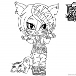 Monster High Coloring Pages Torailei Stripe