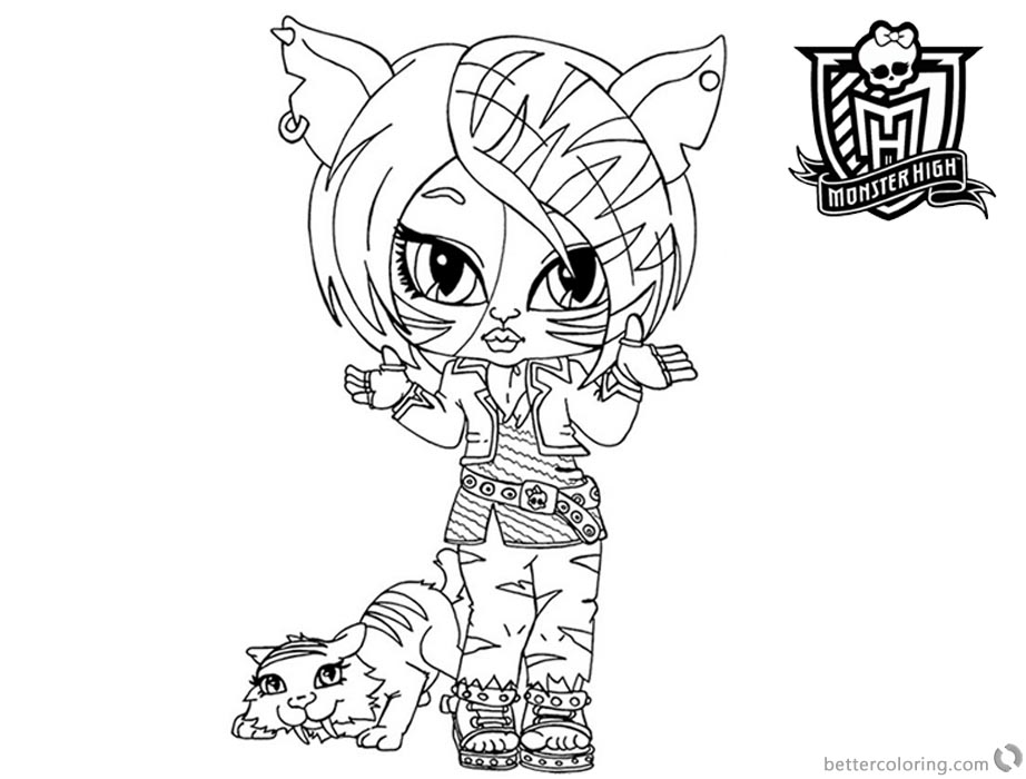 Monster High Coloring Pages Torailei Stripe printable for free