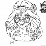 Monster High Coloring Pages Viperine Gorgon