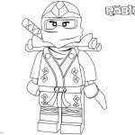 Ninjago Character from Roblox Coloring Pages