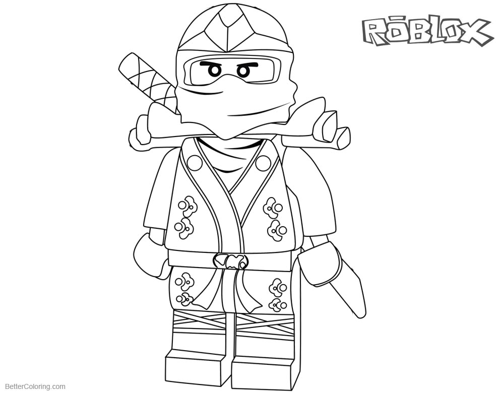 Roblox Characters Coloring Pages Sketch Coloring Page