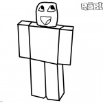 Noob from Roblox Coloring Pages by casualcoolseb973