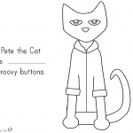 Pete the Cat Coloring Pages Buttons Numbers