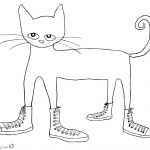 Pete the Cat Coloring Pages Cat in Shoes Clipart