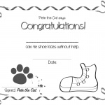 Pete the Cat Coloring Pages Certificate