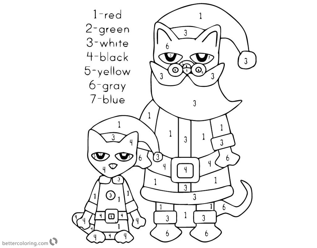 Pete the Cat Coloring Pages Christmas