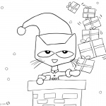 Pete the Cat Coloring Pages Christmas Gifts