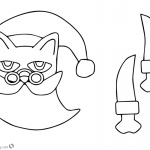 Pete the Cat Coloring Pages Christmas Paper Craft