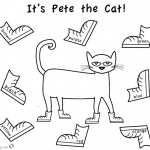 Pete the Cat Coloring Pages Color Eight Shoes