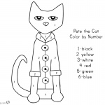 Pete the Cat Coloring Pages Color Pete by Number