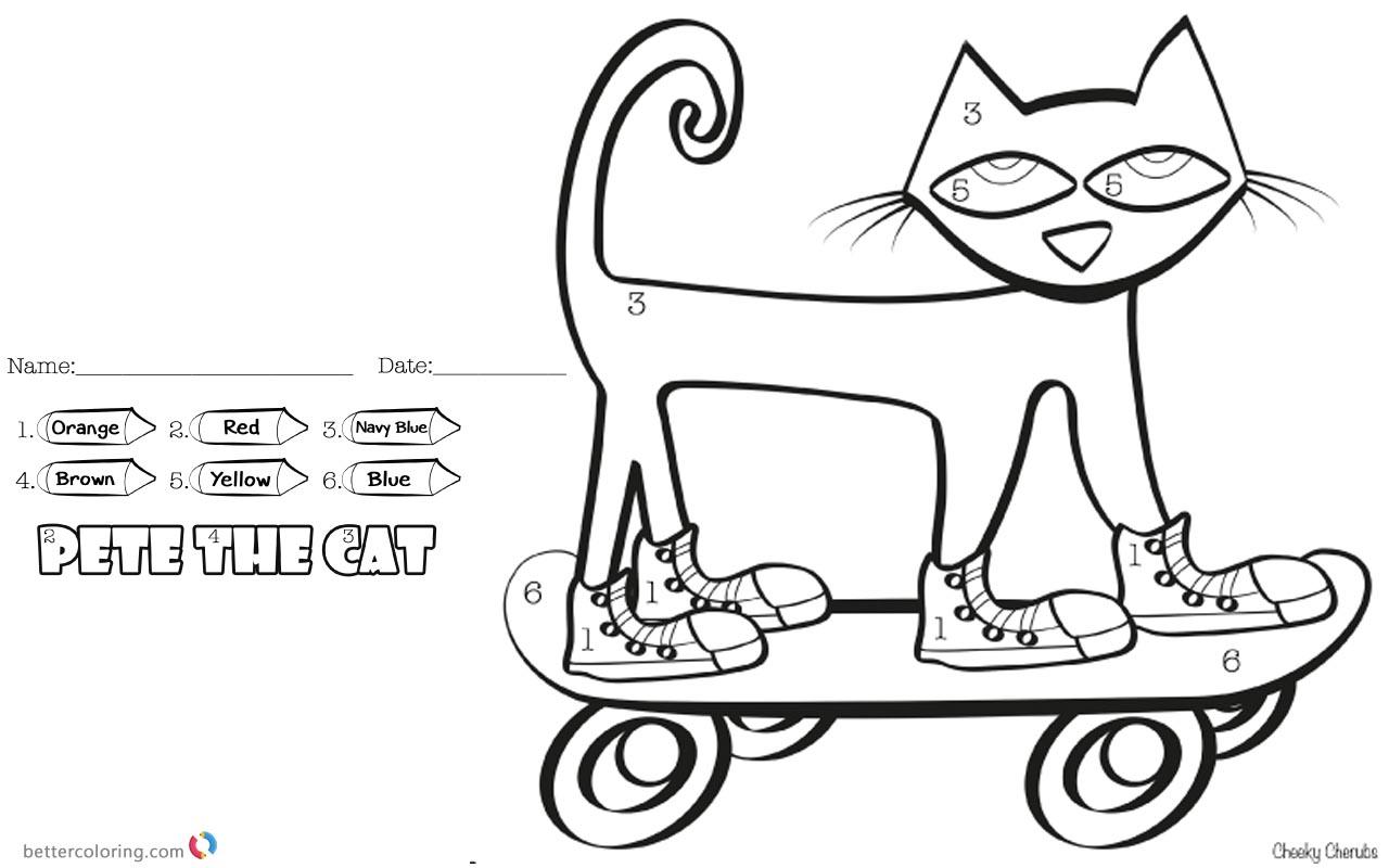 Pete the Cat Coloring Pages Color
