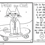 Pete the Cat Coloring Pages Coloring by Number