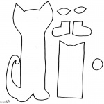 Pete the Cat Coloring Pages Craft Template Cut and Paste