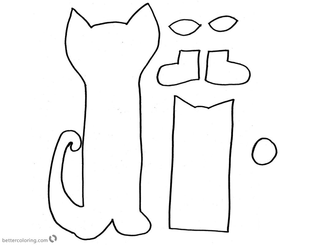 picture regarding Pete the Cat Shoe Printable identified as Pete the Cat Coloring Web pages Craft Template Reduce and Paste