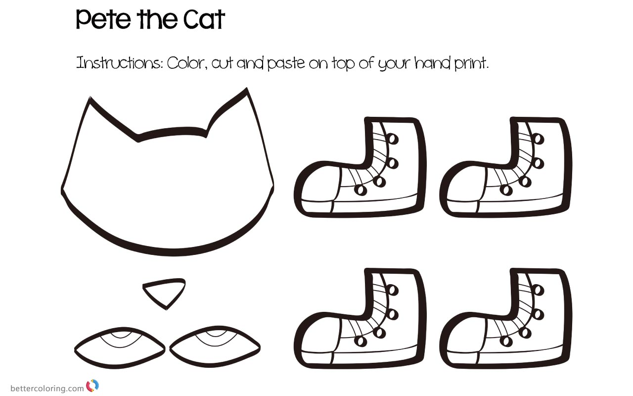 Pete The Cat Buttons Coloring Page