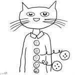Pete the Cat Coloring Pages Groovy Buttons
