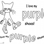 Pete the Cat Coloring Pages I Love My Purple Shoes