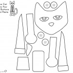 Pete the Cat Coloring Pages Paper Craft Activity