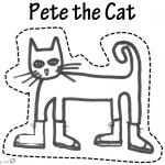 Pete the Cat Coloring Pages Puppet