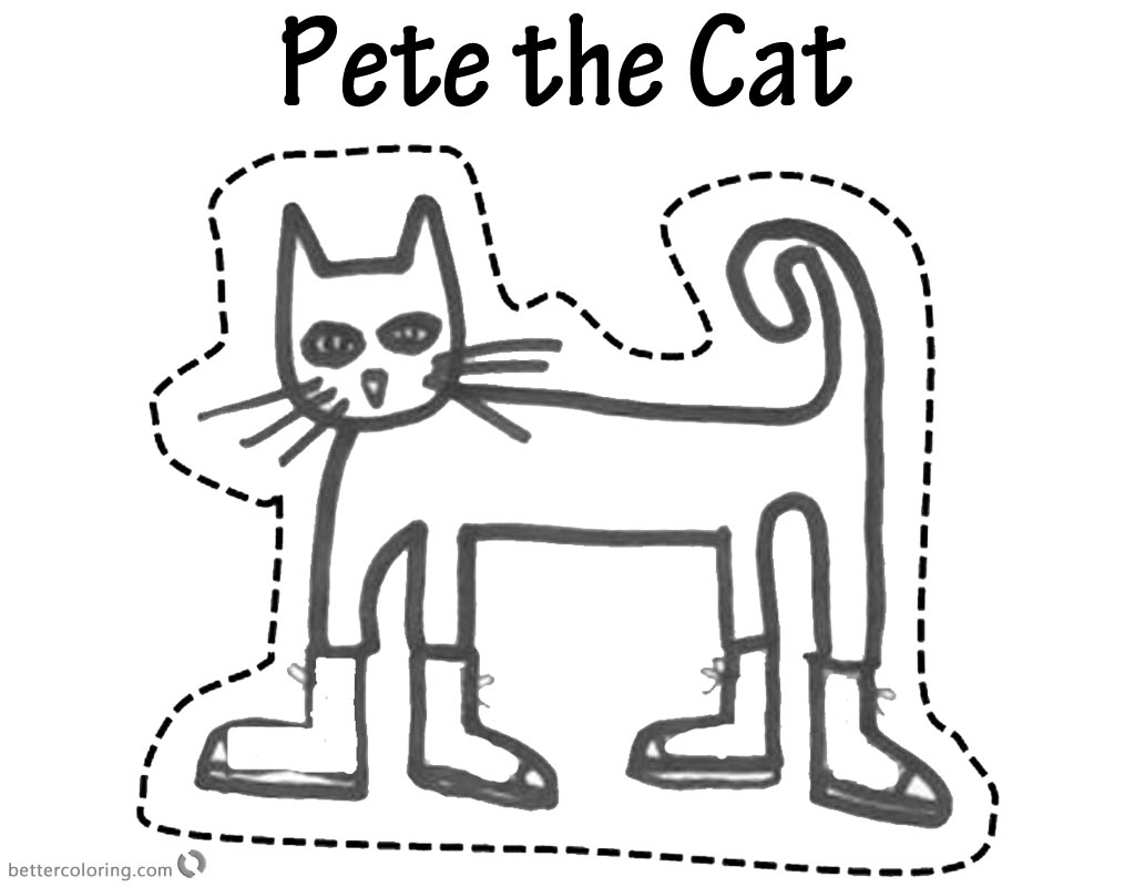 Pete the Cat Coloring Pages Puppet Free Printable