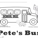 Pete the Cat Coloring Pages School Bus