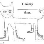 Pete the Cat Coloring Pages Simle Line Drawing