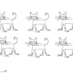Pete the Cat Coloring Pages Six Cats