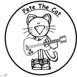 Pete the Cat Coloring Pages Sticker Play Guitar
