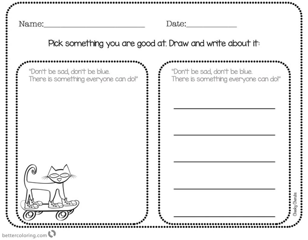 Pete The Cat Pictures To Color