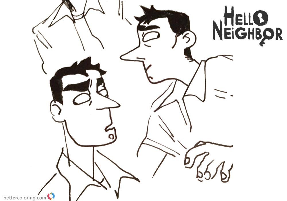 Player Nicky from Hello Neighbor Coloring Pages printable for free
