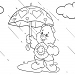 Raindrop Coloring Pages Care Bears