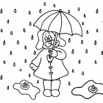 Raindrop Coloring Pages Cartoon Drawn