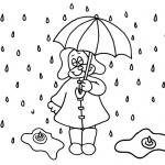 Raindrop Coloring Pages Cartoon Drawn
