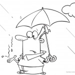 Raindrop Coloring Pages Catching Raindrops