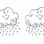 Raindrop Coloring Pages Clouds Blink