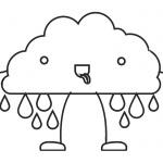 Raindrop Coloring Pages Cute Raindrop Man