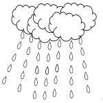 Raindrop Coloring Pages Heavy Raining