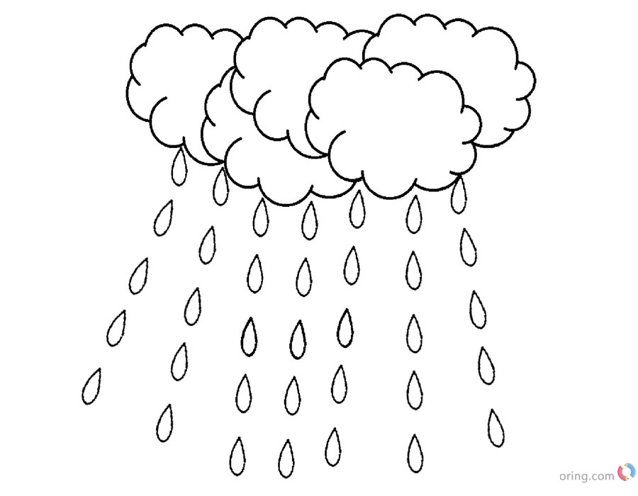 image relating to Raindrop Printable known as Raindrop Coloring Webpages Weighty Raining - Free of charge Printable