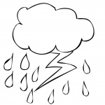 Raindrop Coloring Pages Lightning