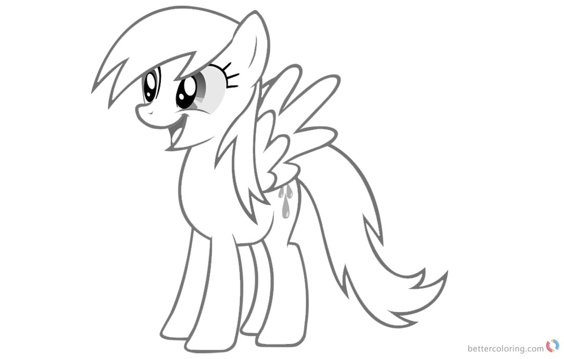 Raindrop Coloring Pages My Little Pony printable for free