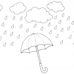 Raindrop Coloring Pages Rainy Water Drops