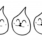 Raindrop Coloring Pages Smile Cat Face