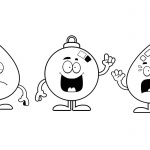 Raindrop Coloring Pages Three Cartoon Raindrops