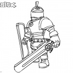 Roblox Characters Coloring Pages Knight