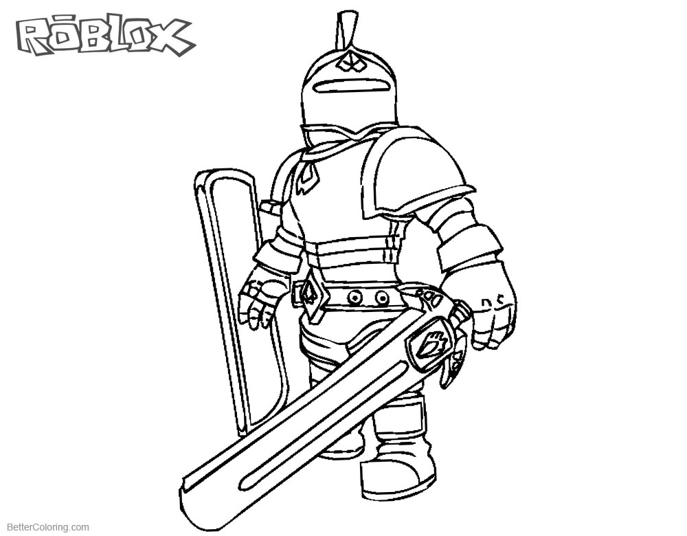 Roblox Characters Coloring Pages Knight Free Printable