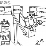 Roblox Coloring Pages Minecraft Enderman