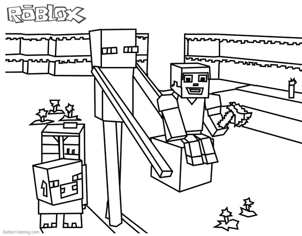 Roblox Coloring Pages Minecraft Enderman - Free Printable Coloring Pages